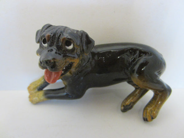 Roscoe Kittys Kennel Hand Decorated Ceramic Dog - Designer Unique Finds