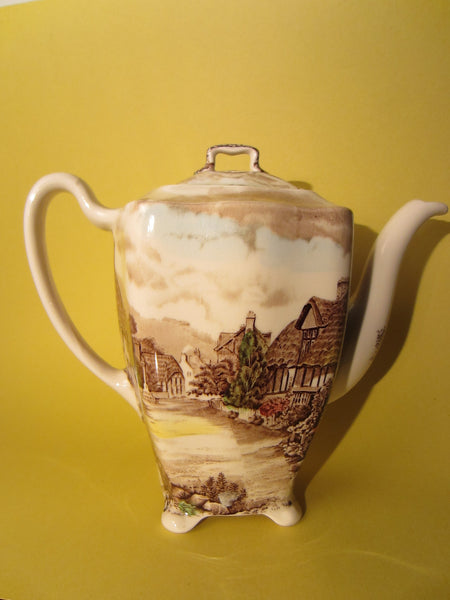 Olde English Countryside By Johnson Bros Hand Engraving Teapot - Designer Unique Finds   - 4