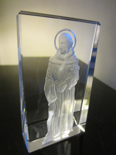 Religious Inspire Holy Man Crystal Icon Expressive Etched Figure - Designer Unique Finds   - 4
