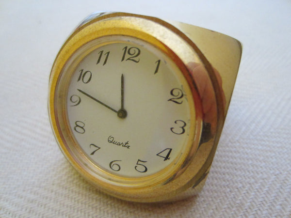 Brass Dice Miniature Novelty Desk Clock Long Beach Memorial Women Hospital - Designer Unique Finds   - 3