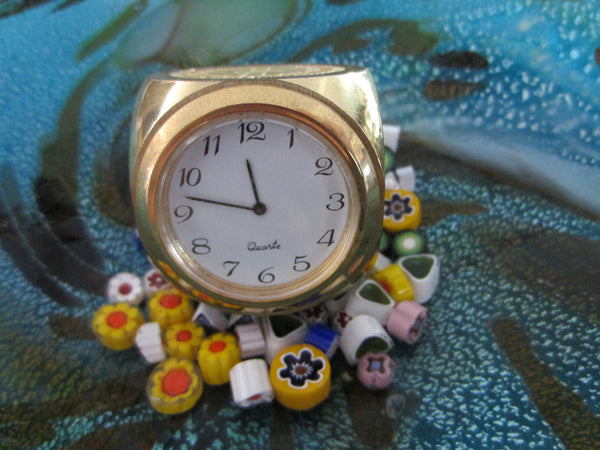 Brass Dice Miniature Novelty Desk Clock Long Beach Memorial Women Hospital - Designer Unique Finds   - 2