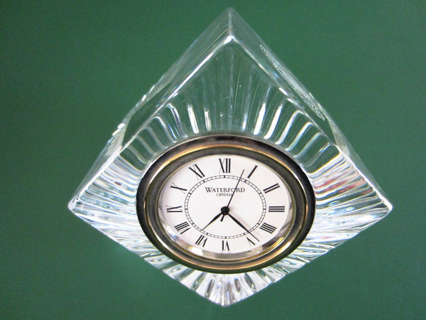 Ireland Waterford Crystal Clock Cube Block Trophy Exclusive - Designer Unique Finds