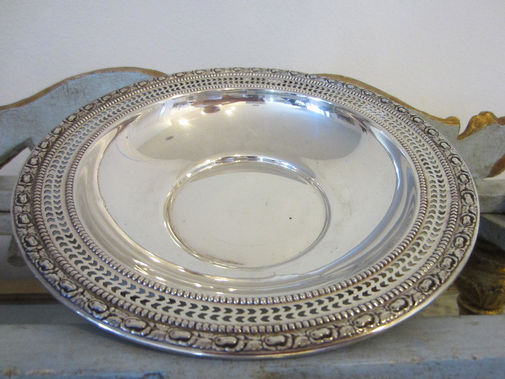 Frank M Whiting Talisman Rose Sterling Bowl - Designer Unique Finds   - 1