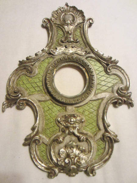 Italian Ornamental Frames Composed Plaster Gilt And Silver Crests - Designer Unique Finds