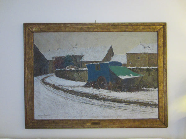Fernand Alexis Lambert Winter Impressionist French Oil On Canvas Title Medaille