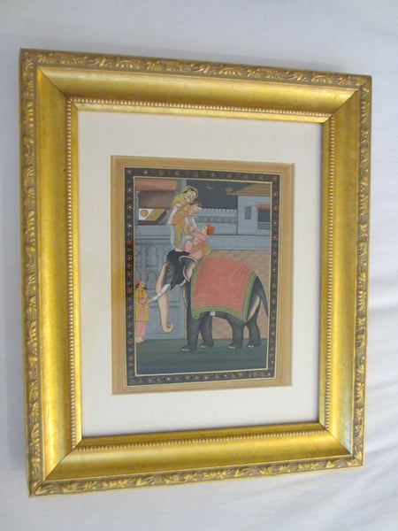 Soof India Wedding Miniature Gouache Painting Applied Gold - Designer Unique Finds