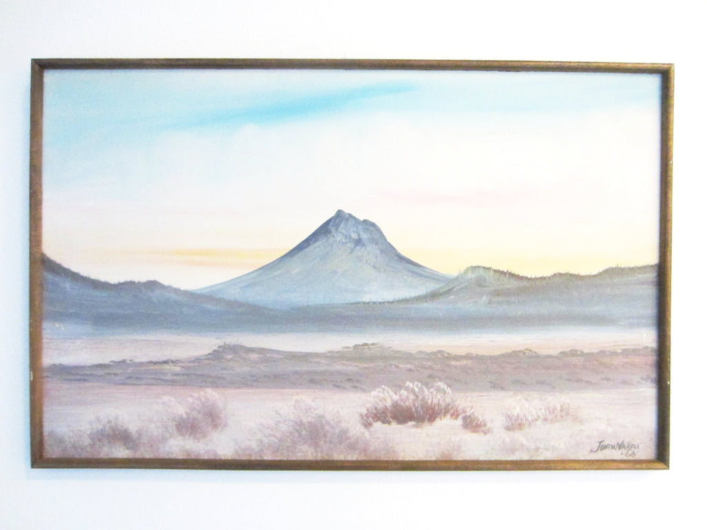 Juan Nakai Arizona Desert Landscape On Board Signed Dated 1966 - Designer Unique Finds   - 1