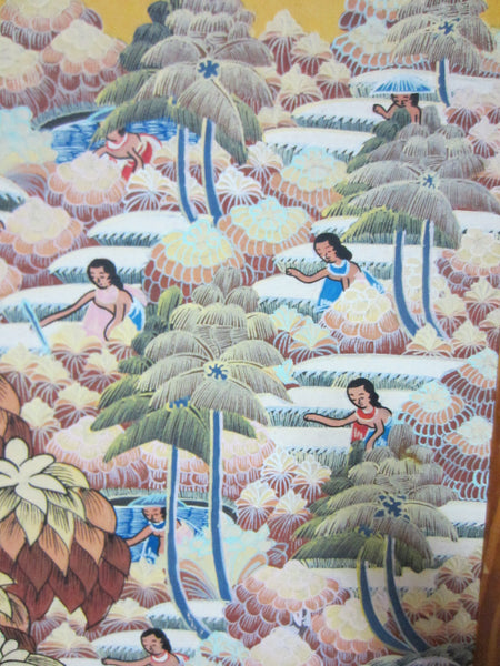 Impressionist Bali Paradise Feast Painting On Board - Designer Unique Finds