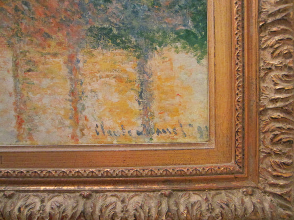 Claude Monet Impressionist Landscape Print Repligraph Panel Art - Designer Unique Finds   - 2