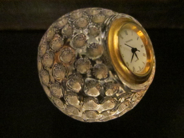 Shannon Crystal Clock Golf Ball Japan Movement - Designer Unique Finds