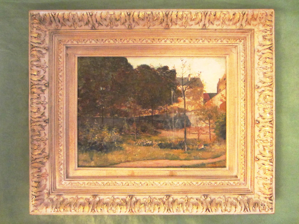 Henri Ottevaere Landscape Belgian Oil On Board With Signature - Designer Unique Finds