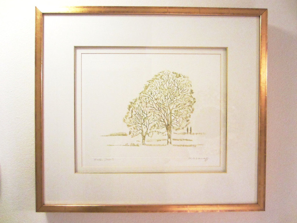 Anita Klebanoff Winter Trees II Contemporary Drawing Art - Designer Unique Finds   - 3