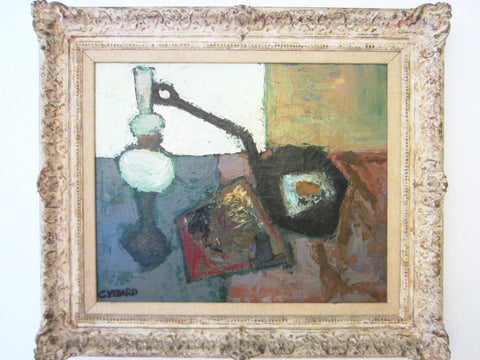 Claude Venard French Still Life Abstract Oil On Canvas - Designer Unique Finds   - 3