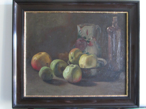 Wladimir Linde Russian Still Life Fruits Oil on Board - Designer Unique Finds