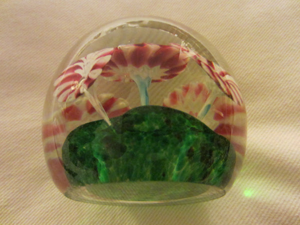 Murano Glass Peppermint Paperweight - Designer Unique Finds