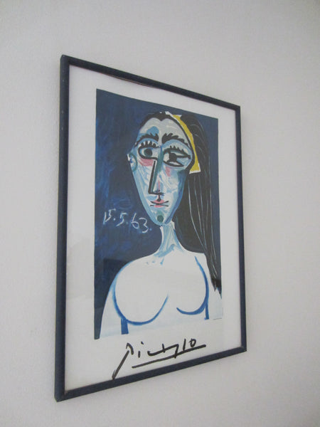 Collection Marina Picasso Mid Century Portrait Print Copyrighted - Designer Unique Finds   - 3