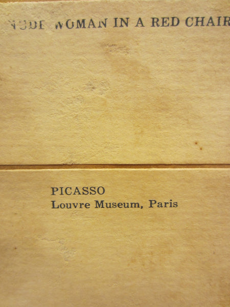 Picasso Louvre Museum Paris Woman In A Red Chair Portrait Print - Designer Unique Finds   - 2