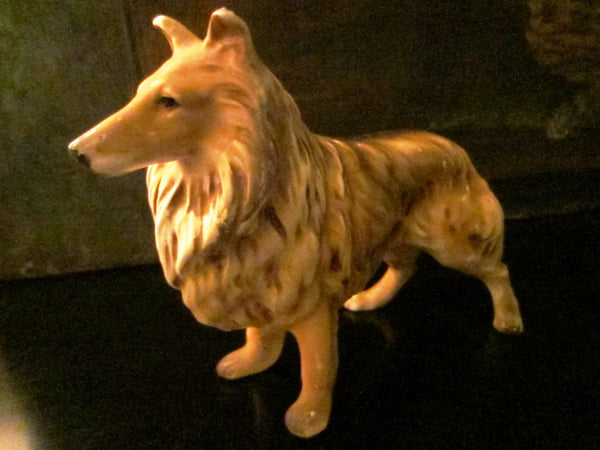 Collie English Ceramic Dog Hand Painted Stamped - Designer Unique Finds