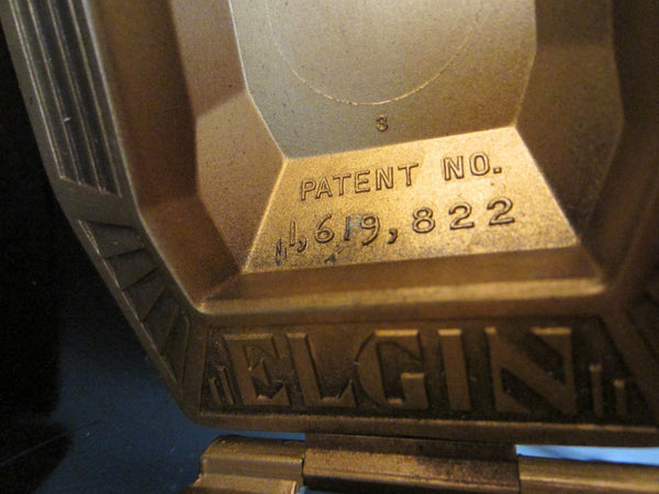 Art Deco Elgin Patented Watch Case Eagle Relief Marked Numbered - Designer Unique Finds   - 3