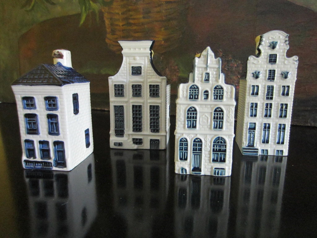 Blue Delft Liquor Decanters Ceramic Buildings Made In Holland - Designer Unique Finds   - 1