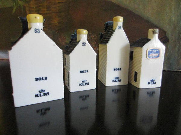 Blue Delft Liquor Decanters Ceramic Buildings Made In Holland - Designer Unique Finds   - 2