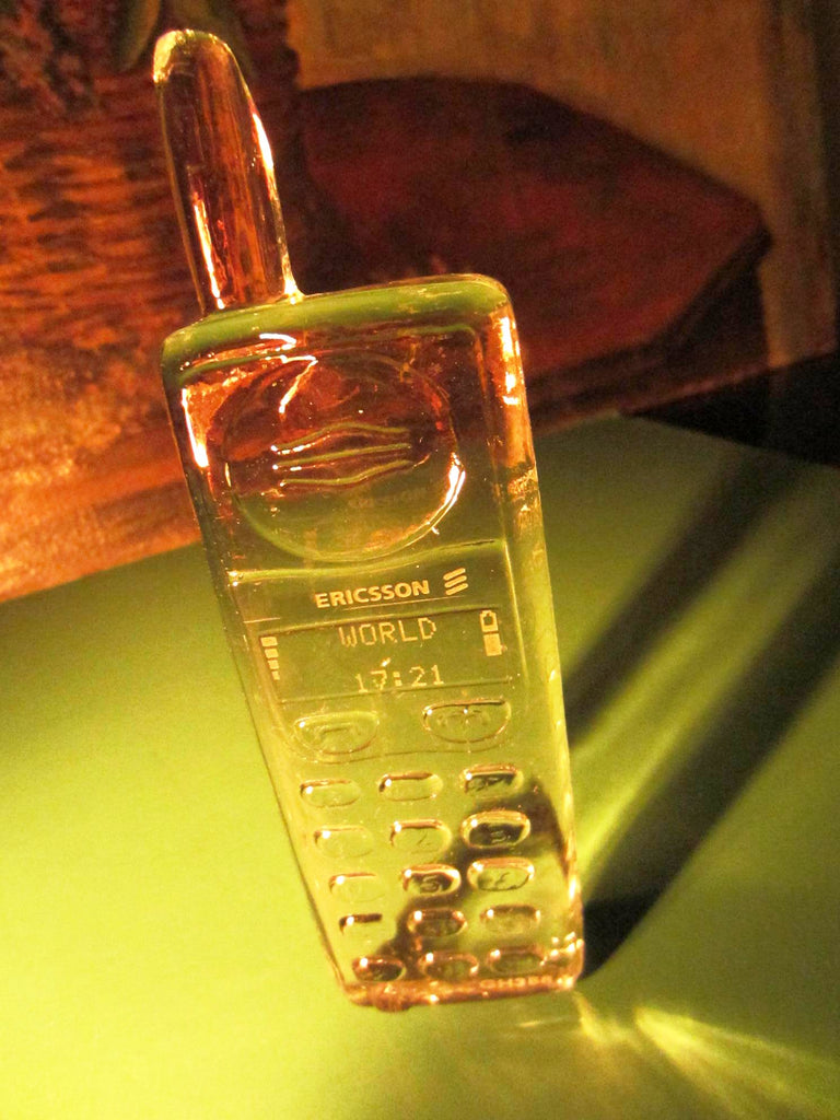Nybro Ericcsson Swedish Crystal Cordless Phone Paperweight