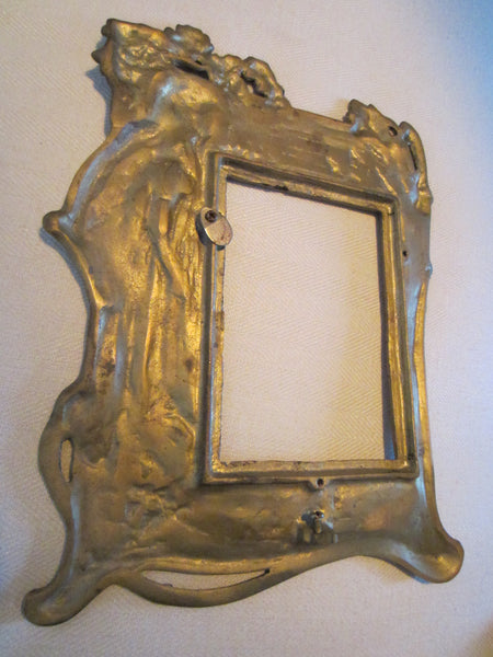 Neoclassical Style Brass Figurative Portrait Photo Frame - Designer Unique Finds   - 4