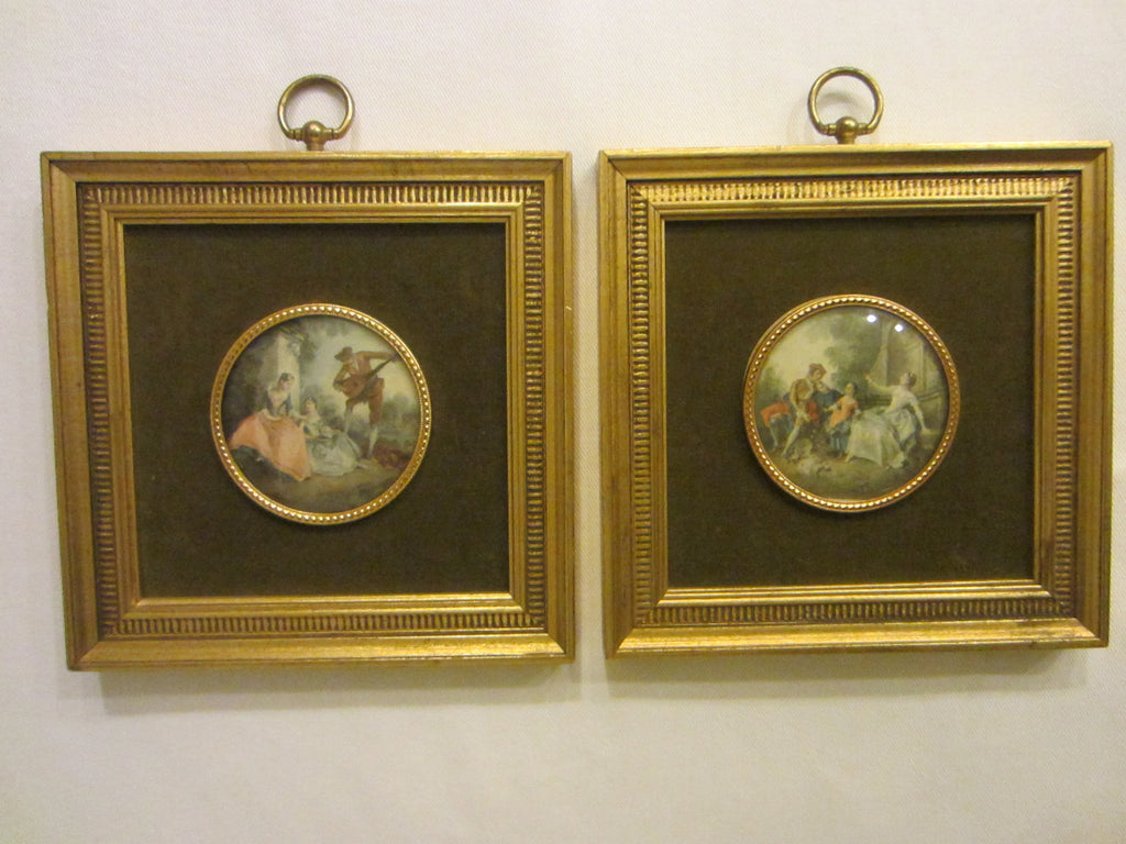 B & S Creation New York Romantic Medallion Wall Arts In Pair - Designer Unique Finds
