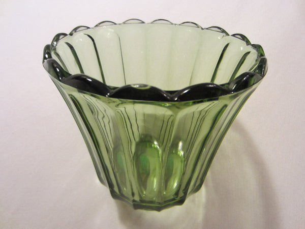 Continental Can Co Green Depression Glass Vase - Designer Unique Finds   - 3