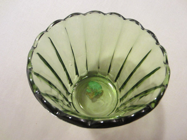 Continental Can Co Green Depression Glass Vase - Designer Unique Finds   - 5