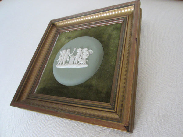Wedgwood Cameo Green Jasper Art Made in England - Designer Unique Finds   - 6