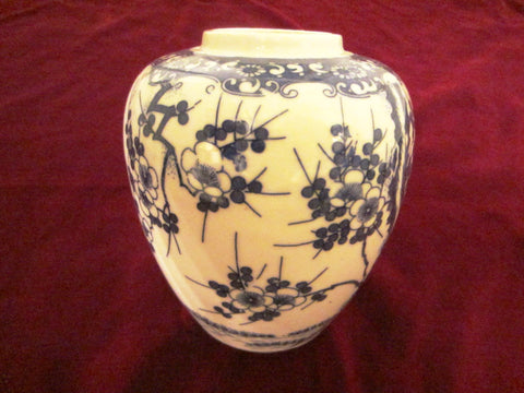 Wales Japan Chinoiserie Porcelain Vase Blue Flowers