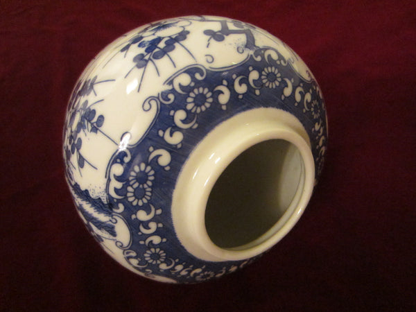 Wales Japan Porcelain Vase Blue White Transfer Floral Chinoiserie Designer Unique Finds