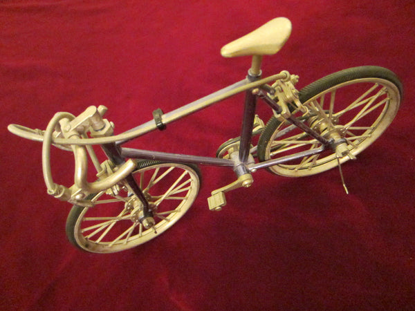 Mid Century Modern Blue Metal Bicycle Folk Art Sculpture - Designer Unique Finds