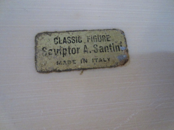 Classic Figure Sculptor A Santini Made In Italy - Designer Unique Finds   - 2