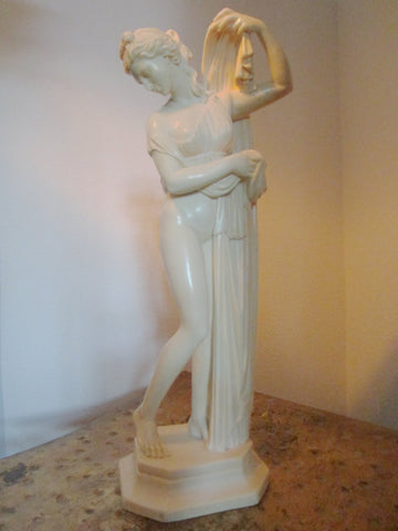 A Santini  Italian Sculpture Made In Florence Italy Signed Labeled