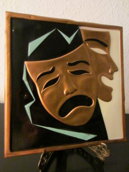 Happy Tragic Abstract Tin Portrait Copper Expression Pop Art - Designer Unique Finds   - 3