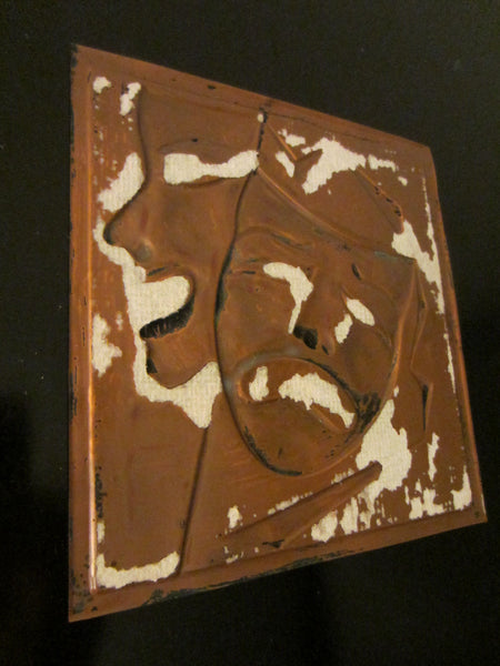 Happy Tragic Abstract Tin Portrait Copper Expression Pop Art - Designer Unique Finds   - 4