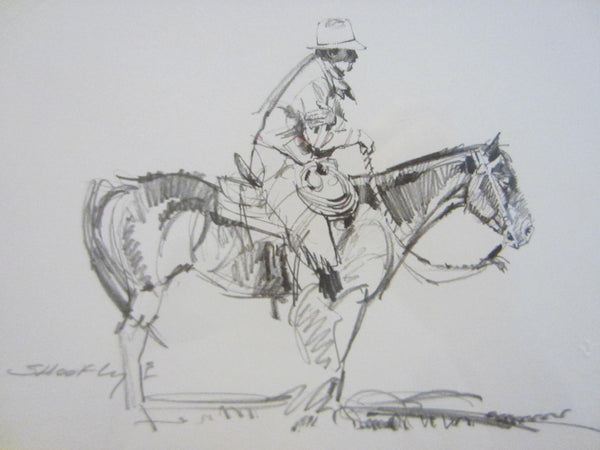 Robert Shoofly Shoflet Animated Western Signed Drawings - Designer Unique Finds