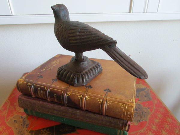 Cast Iron Bird Sculpture With Signature - Designer Unique Finds   - 1