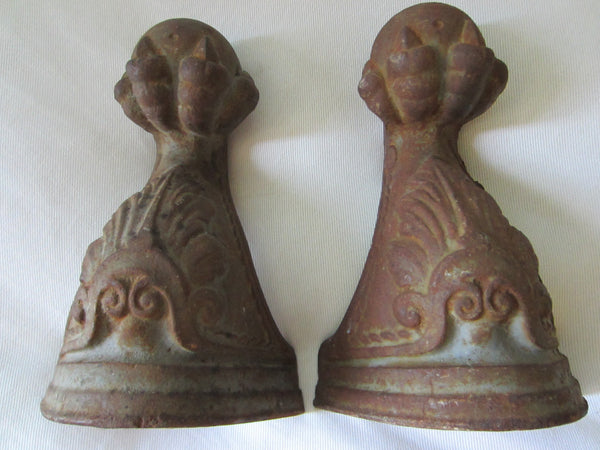 Architectural Rustic Cast Iron Ball Claw Bookends