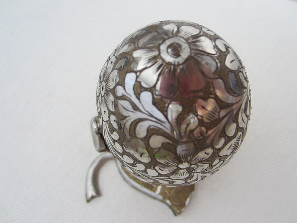 Swedish Rhapsody Musical Silver Jewelry Box Floral Egg - Designer Unique Finds   - 2