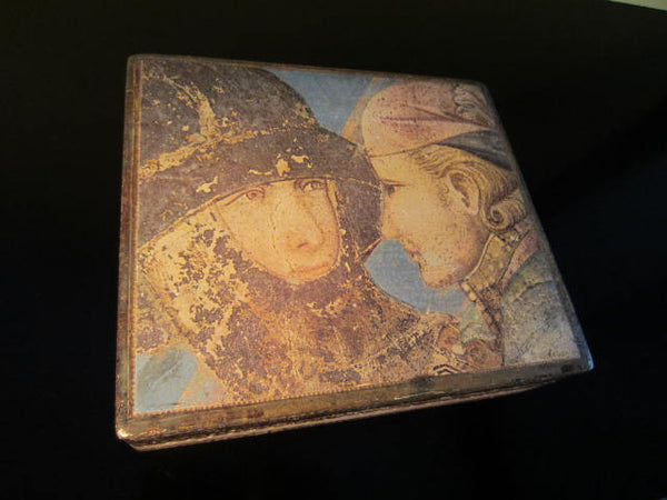 Florentine Tole Romantic Portrait Hand Painted Box - Designer Unique Finds   - 1