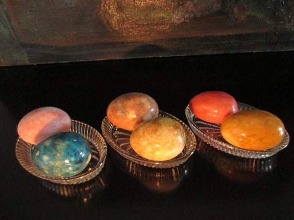 Marbles Alabaster Colorful Eggs In Group Various Colors - Designer Unique Finds