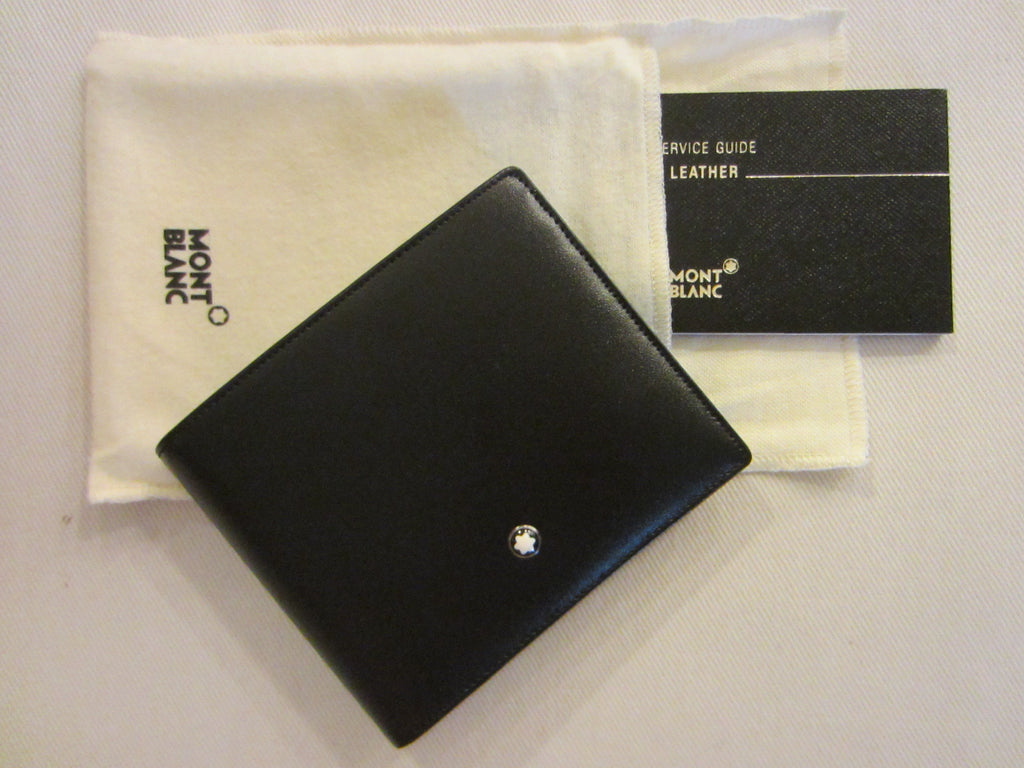 Mont Blanc Italy Black Leather Wallet - Designer Unique Finds