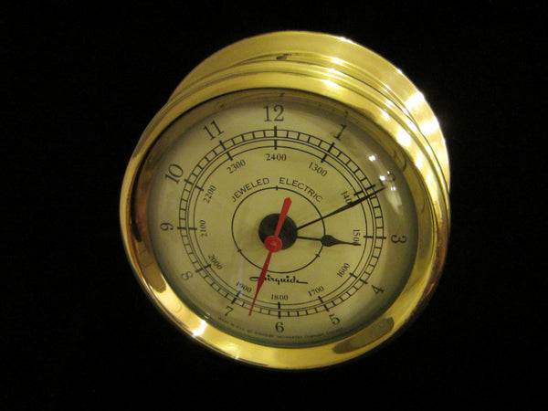Junghans Brass Ship Clock Jeweled Electric Airguide Chicago - Designer Unique Finds   - 3