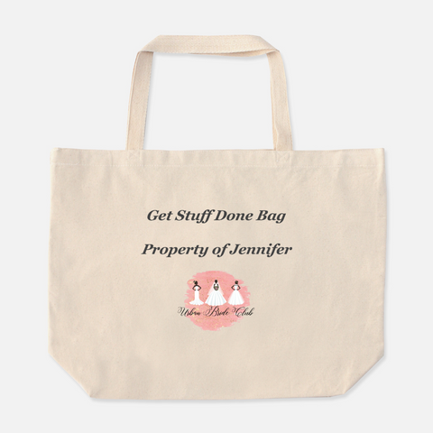 Get Stuff Done Tote; personalization available for additional cost.