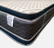 Load image into Gallery viewer, Suede Navy Blue Double Pillow Top Mattress