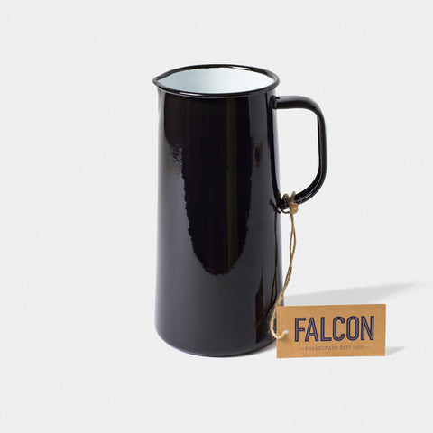 Enamel 3 Pint Jug Coal Black