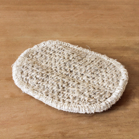 Coarse Round Linen Horsehair Soap Pad